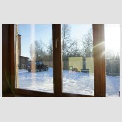 Фото окон от компании Изделия из кедра